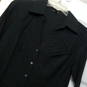Express fitted button-down stretch shirt